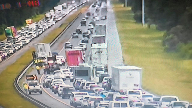 Interstate 95 was backed up for miles near SR 207