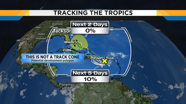 Tropical wave less likely to develop