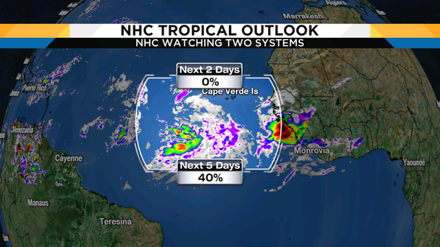Two tropical systems to watch