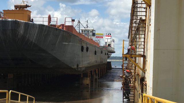 St. Johns River Ferry dry docked for 2 weeks