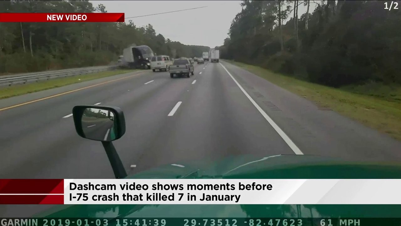 Dashcam shows moments before fatal crash