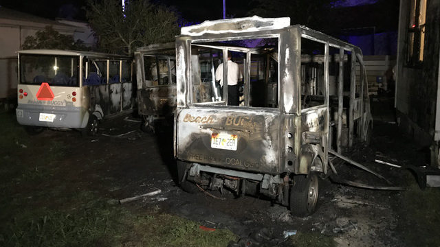 Fire at Beach Buggy in Jacksonville Beach sparked by charger