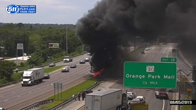 I-295 lanes blocked Roosevelt Boulevard for hours after big rig fire