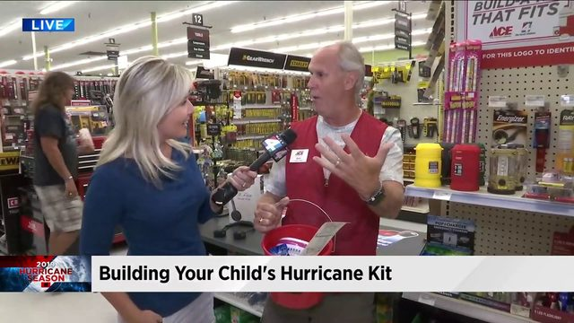Building your child's hurricane kit