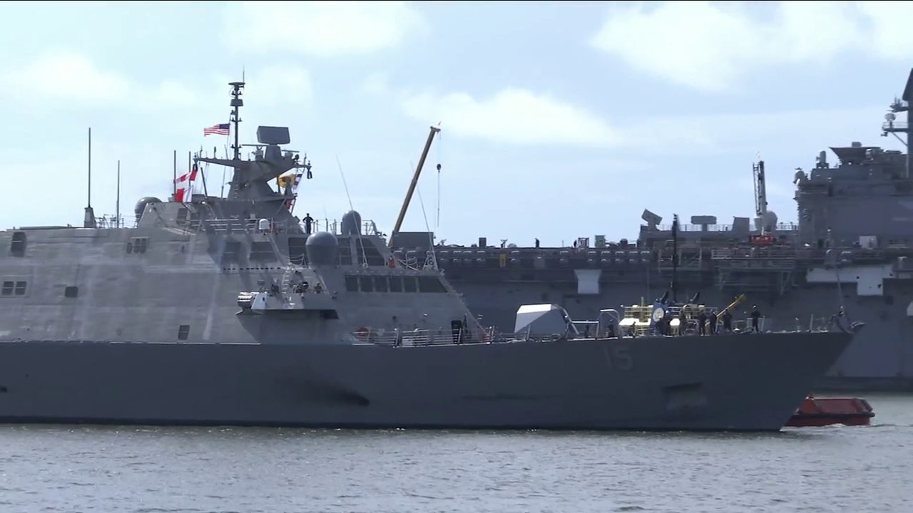 Navy's newest littoral combat ship sails into Mayport