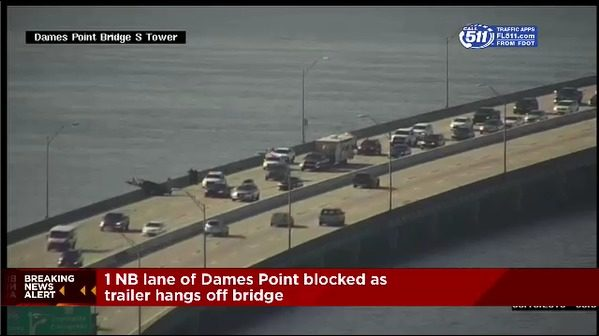 All lanes reopened after hit and run crash on Dames Point Bridge