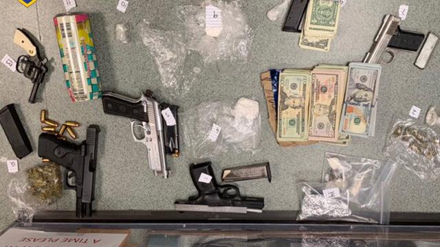 Drug bust lands three in jail ; agents seize drugs, money, guns