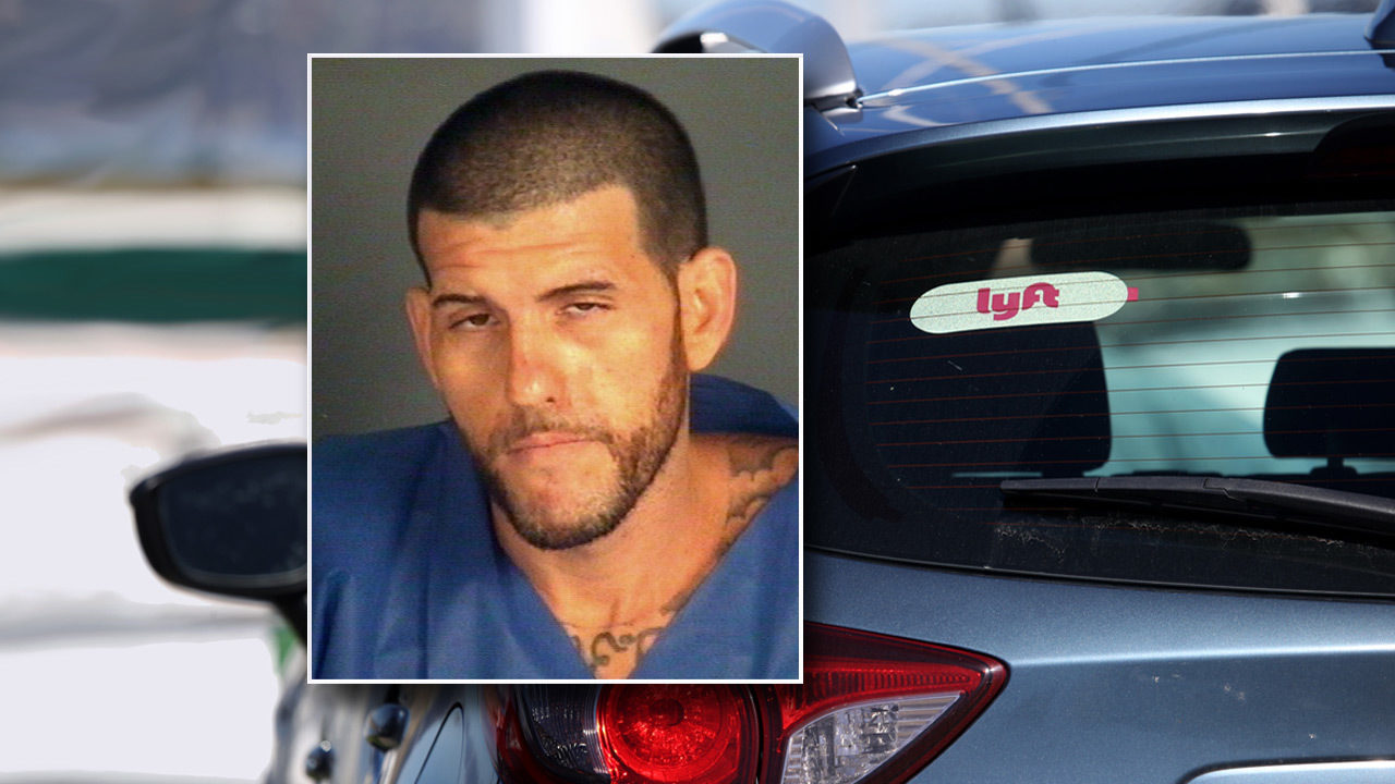 Man trying to climb into moving car shot by Lyft driver