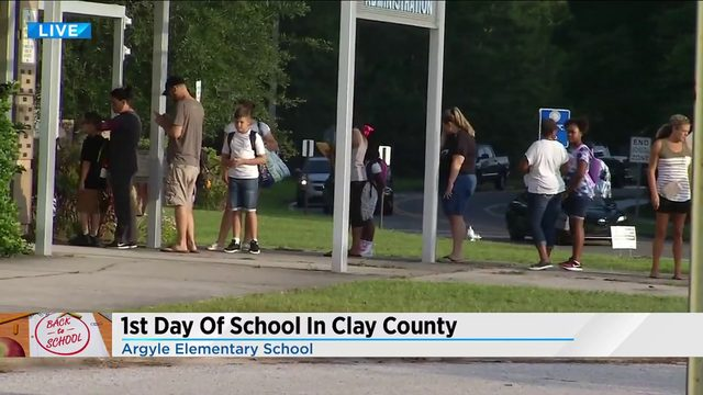 1st day of school in Clay County