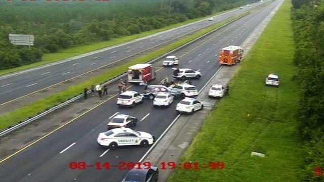 Deputies: Man steals unmarked car, crashes on I-95 during PIT maneuver