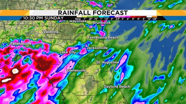 Washout weekend forecast