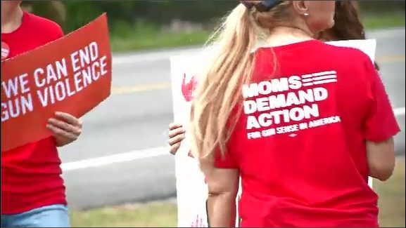 Moms Demand Action holds rally at Duval Courthouse