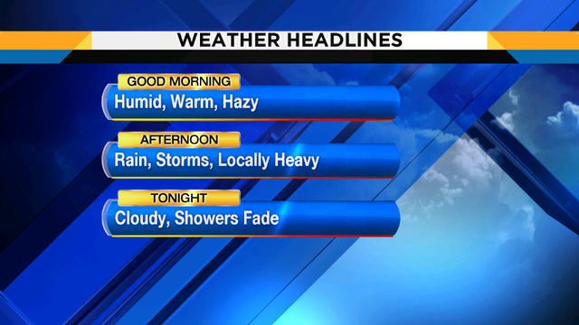 Damp conditions tonight