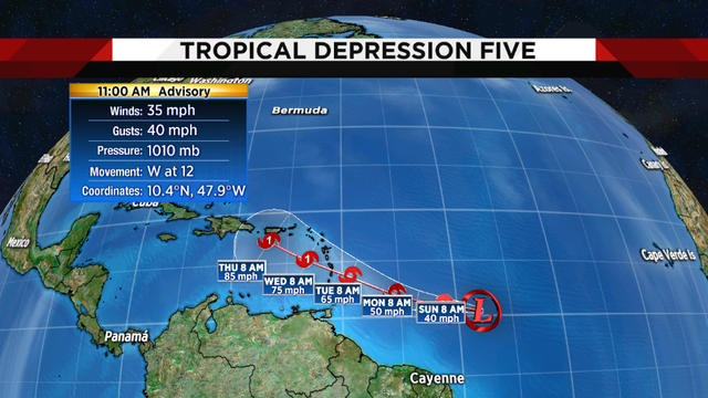 Tropical Depression forms, could become a hurricane