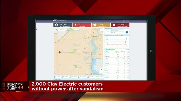 Vandalism suspected in massive Clay County power outage