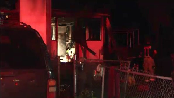 Family escapes mobile home fire on the Westside
