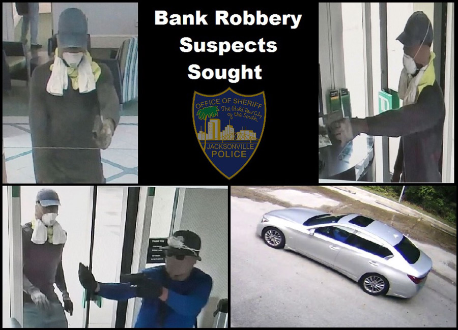 JSO releases surveillance images in bank robbery