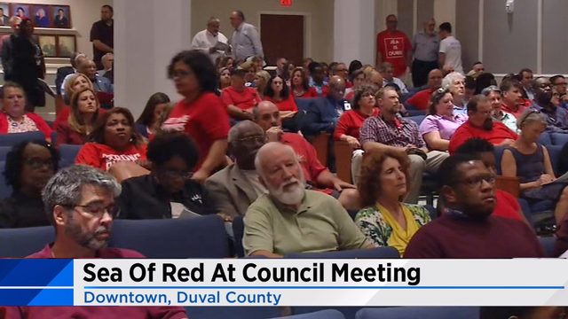 School tax supporters fill City Council chambers