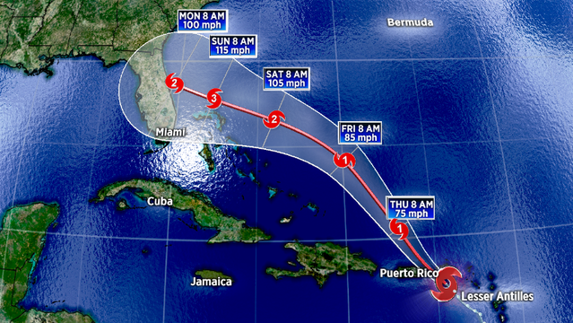 Tropical Storm Dorian now expected to be a major hurricane