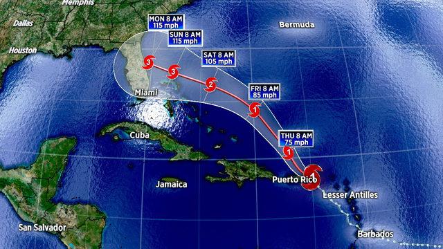 Dorian strengthens into hurricane near U.S. Virgin Islands