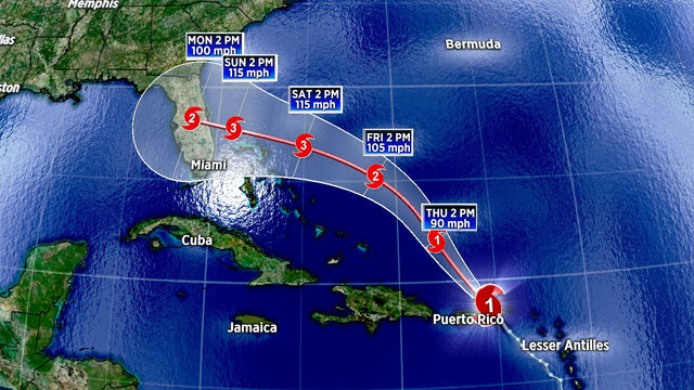 Dorian expected to become a 'dangerous' hurricane