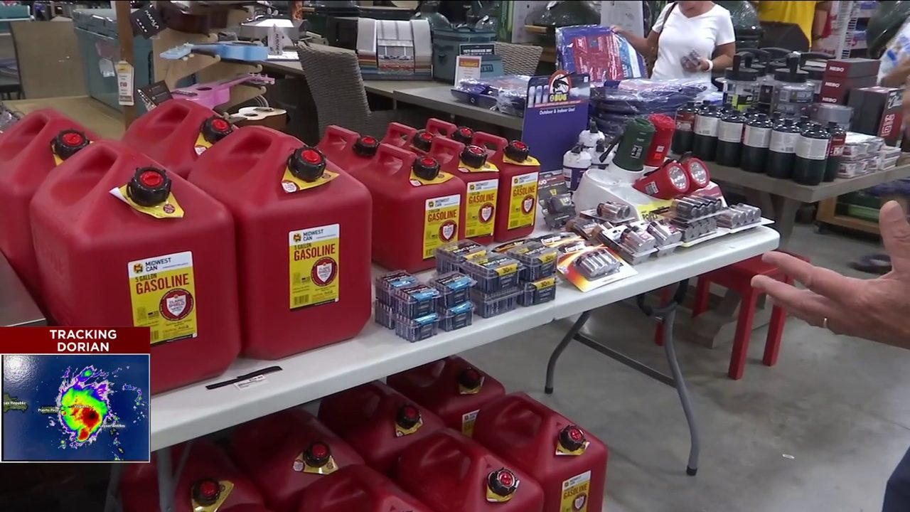 Hurricane supplies flying off the shelves at Jacksonville-area stores