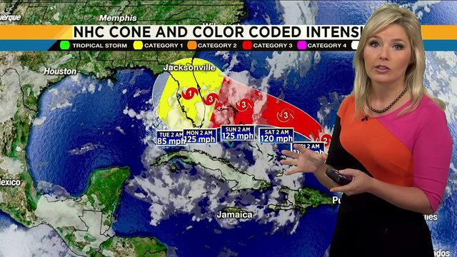 VIDEO: Rebecca explains what the 2 main hurricane models mean for our area