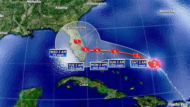 Dorian expected to become a major hurricane soon