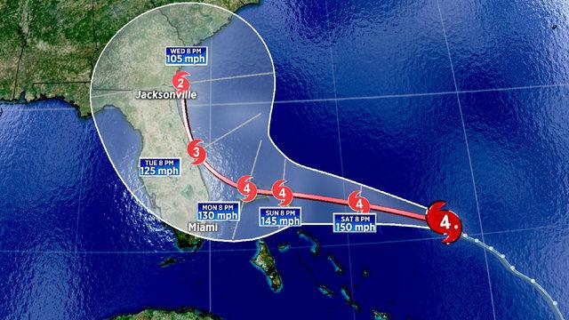 Dangerous Dorian may not reach Florida, as models make dramatic shift