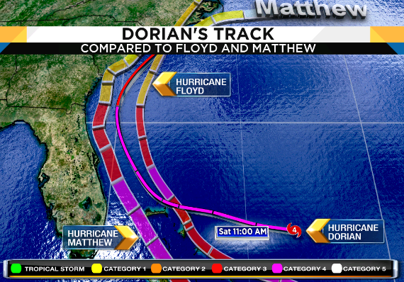 Hurricane Dorian: 'Extremely dangerous' Category 4 storm heads towards Florida