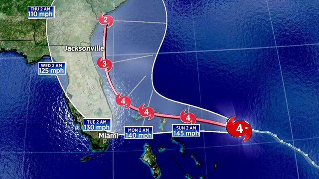 Dangerous Dorian may not reach the Florida coastline