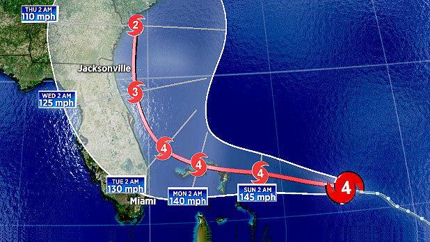 Dangerous Dorian may not reach the Florida coastline