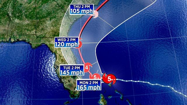 Part of Florida's coast under Hurricane Warning as Dorian's fury aims…