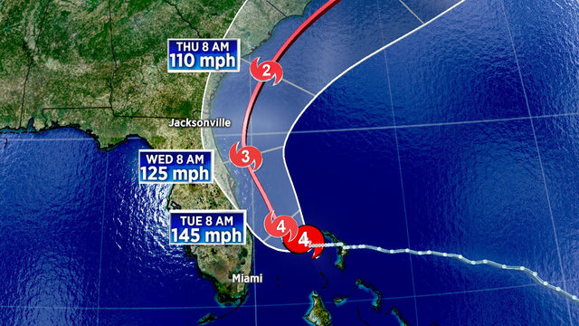Dorian begins more northerly turn, still 'dangerously close' to Florida coast
