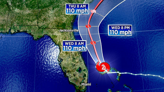Hurricane Dorian weakens to Category 2, but will still batter Florida coast