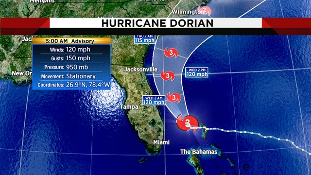 Jacksonville's coast out of Hurricane Dorian's cone of concern