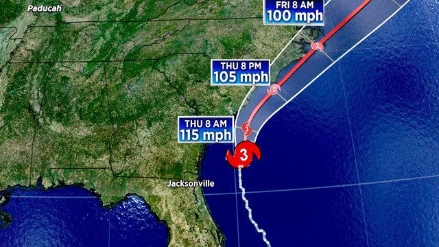 Hurricane Dorian strengthens to Category 3 as moves past Georgia