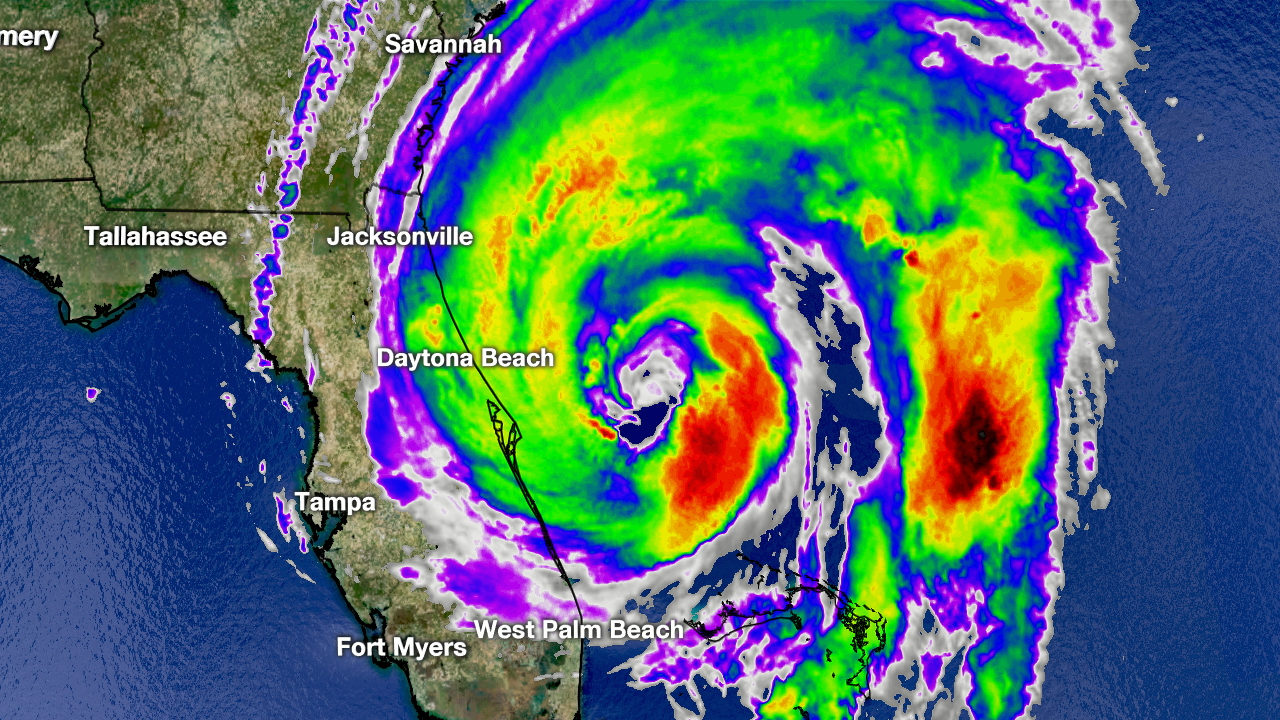 Hurricane Dorian begins lashing Northeast Florida with winds, rain