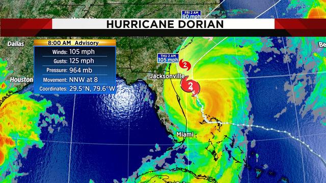 Hurricane Dorian lashes Northeast Florida with winds, rain