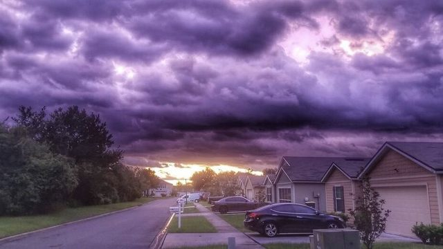 Why the sky turned purple at sunset as Hurricane Dorian pulled away
