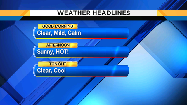 Near record highs with sunny skies this weekend