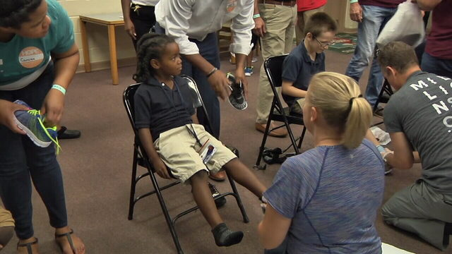 Students at Jacksonville elementary school surprised with new shoes