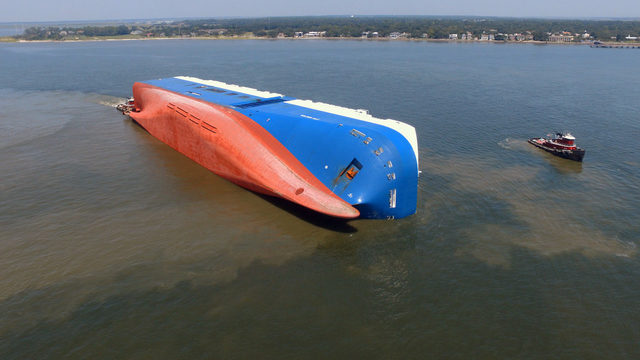 Focus on environment as capsized ship remains in St. Simons Sound