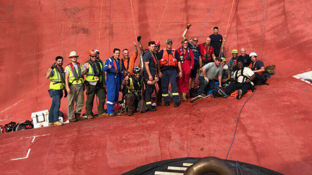 Coast Guard captain details 'miracle' rescue of trapped crew members