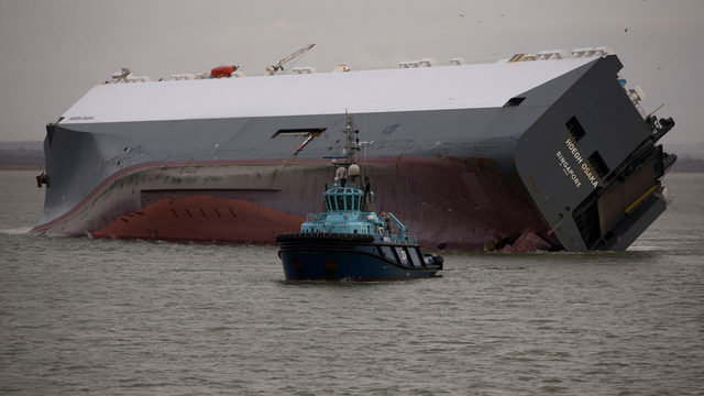 Capsized ship in Port of Brunswick: It's happened before