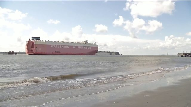 Coast Guard working to keep port, capsized cargo ship, safe