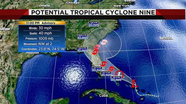 Here we go again: Hurricane Center sees storm reaching Florida this weekend