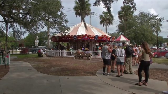 WATCH: Final farewells before famed St. Augustine carousel dismantled