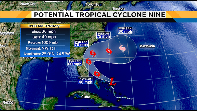 Here we go again: System will become tropical depression, storm today