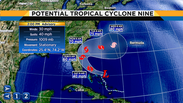 Tropical system to become depression or named storm today